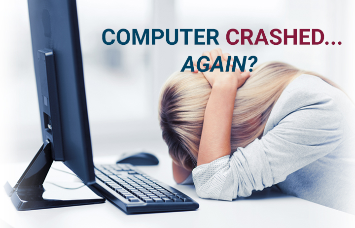 computer crashing stops productivity